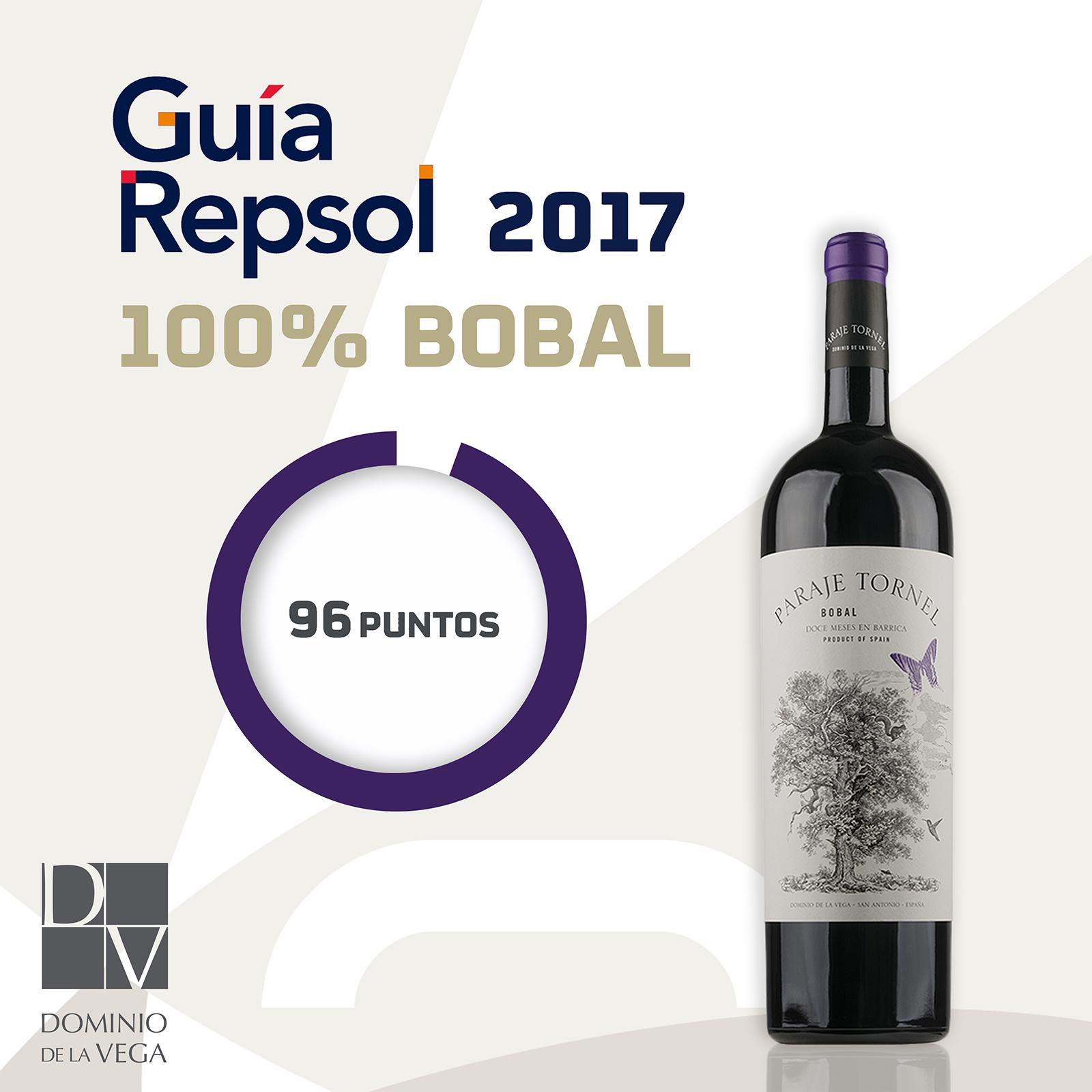 """""""Paraje tornel"""" de Dominio de la Vega valorado por la Guía Repsol como el mejor bobal de Utiel-Requena"""