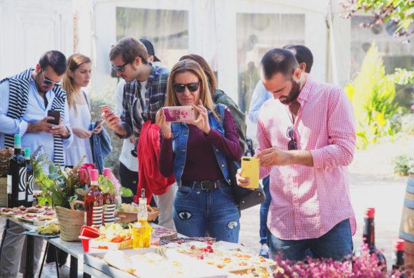 evento instagramers en la bodega Dominio de la Vega